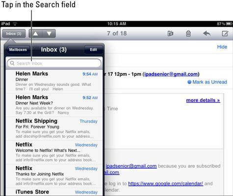 ���� - Como organizar E-mail em seu iPad