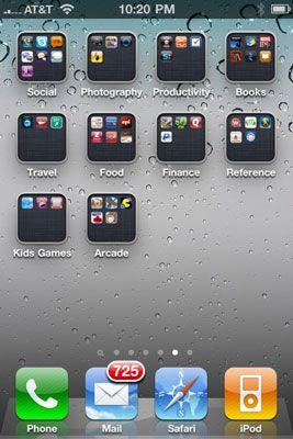 ���� - Como organizar os ícones de seu iPhone 4 em pastas