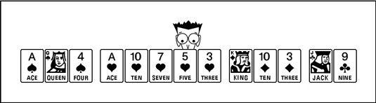 ���� - Como passar seus cartões em um jogo Corações