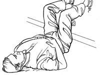 ���� - Como executar uma Hip-rotação estiramento