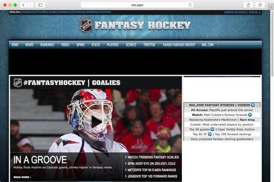 ���� - Como Jogar Fantasia Hockey on-line