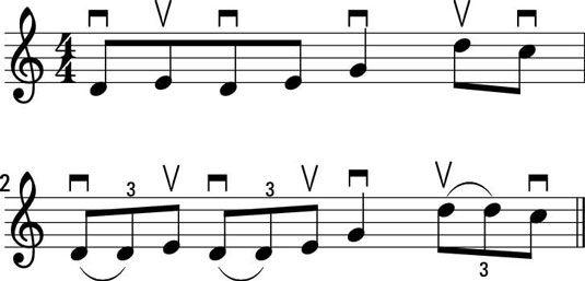 ���� - Como jogar o rolo irlandês com o Hornpipe na Fiddle