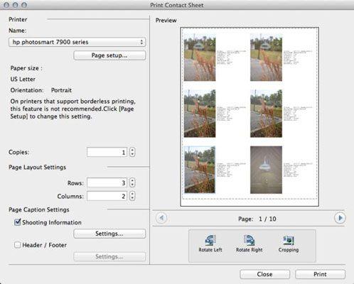 ���� - Como imprimir uma folha de contato em ImageBrowser EX em sua Canon EOS 6D
