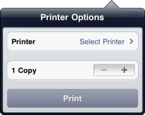 ���� - Como imprimir a partir do iPad
