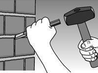 ���� - Como reparar tijolos e blocos Fundações