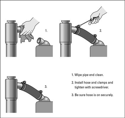 ���� - Como substituir um radiador ou aquecedor Mangueira