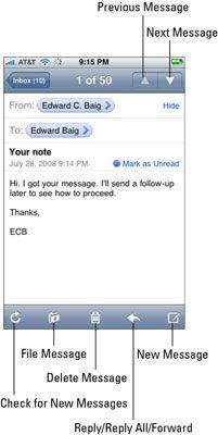 ���� - Como responder e encaminhar mensagens de email em seu iPhone