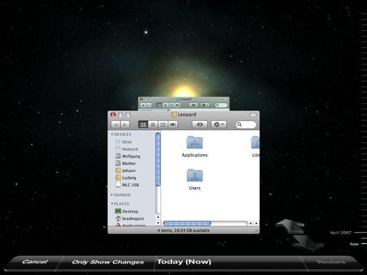���� - Como restaurar dados com o Time Machine do Mac OS X Snow Leopard