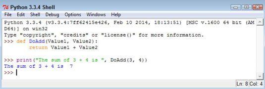 ���� - Como para retornar informações de funções em Python