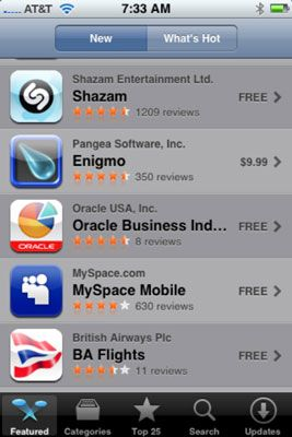 ���� - Como Pesquisar na iTunes App Store a partir do seu iPhone