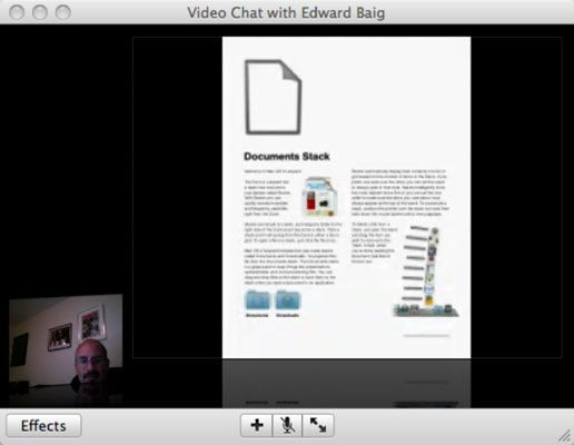 ���� - Como compartilhar arquivos Usando o iChat Theater do Mac
