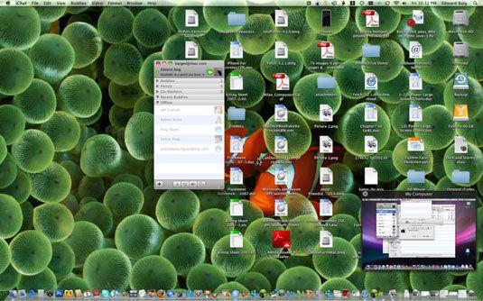 ���� - Como compartilhar telas Mac via iChat