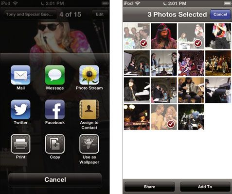 ���� - Como compartilhar fotos e vídeos de um iPod Touch