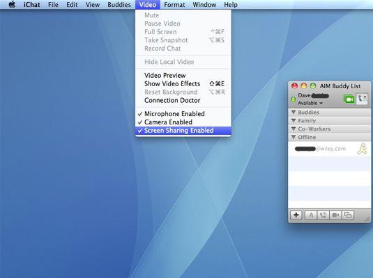 ���� - Como compartilhar telas remotamente no Mac OS X Snow Leopard
