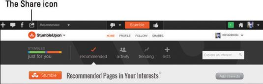 ���� - Como compartilhar StumbleUpon conteúdo em Social Media Networks