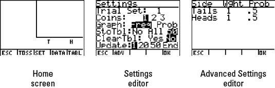 ���� - Como simular moedas que lanç na TI-84 Plus