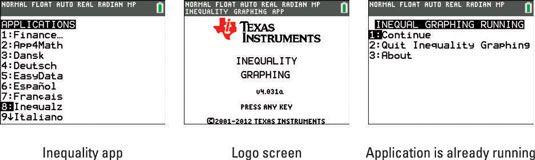 ���� - Como iniciar e sair do Inequality Graphing na TI-84 Plus
