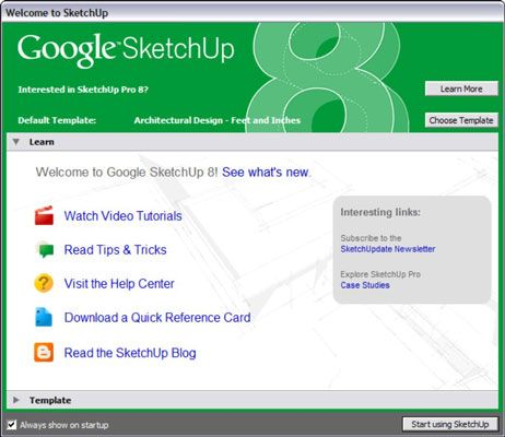 ���� - Como começar a usar o Google SketchUp 8