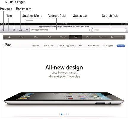 ���� - Como navegar na Internet em seu iPad 2