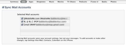 ���� - Como sincronizar contas de e-mail com o seu iPhone 4S