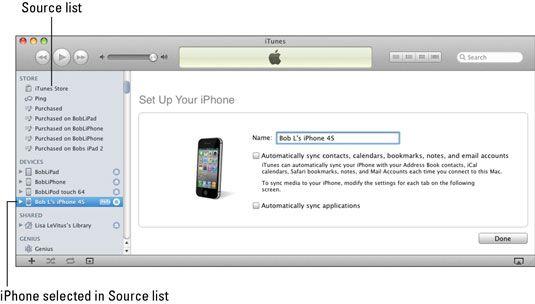 ���� - Como sincronizar com o iPhone 4S com o seu computador