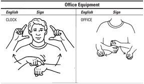 ���� - Como falar sobre material de escritório com American Sign Language