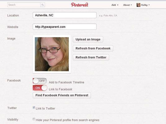 ���� - Como atualizar seu Pinterest Profile Picture e Bio
