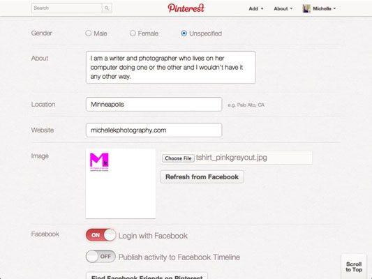 ���� - Como fazer upload de perfil da sua empresa Foto a Pinterest