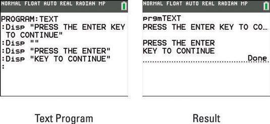 ���� - Como usar um programa para escrever um texto sobre a TI-84 Plus