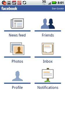 ���� - Como usar o Facebook em seu Droid X