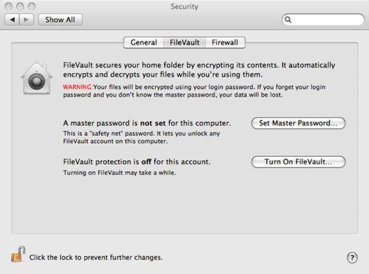 ���� - Como usar o FileVault para criptografar dados Mac