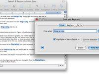 ���� - Como usar o Localizar e substituir no Word 2008 para Mac