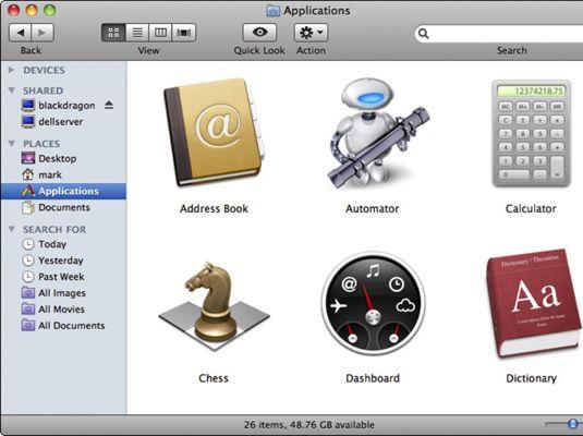 ���� - Como usar o Localizador de vistas com o Mac OS X Snow Leopard