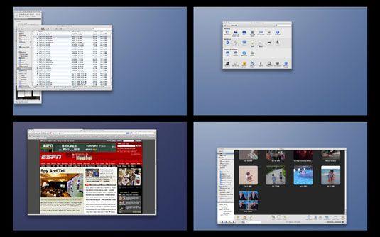 ���� - Como usar os espaços Mac