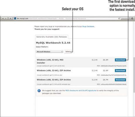 ���� - Como usar o MySQL Workbench para o seu site