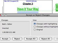 ���� - Como utilizar marcas de revisão no Word 2008 para Mac