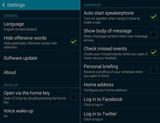 ���� - Como usar S-Voice da Samsung Galaxy S 5 a atualizar o Facebook status