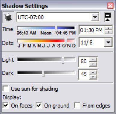 ���� - Como usar sombras no Google SketchUp 8