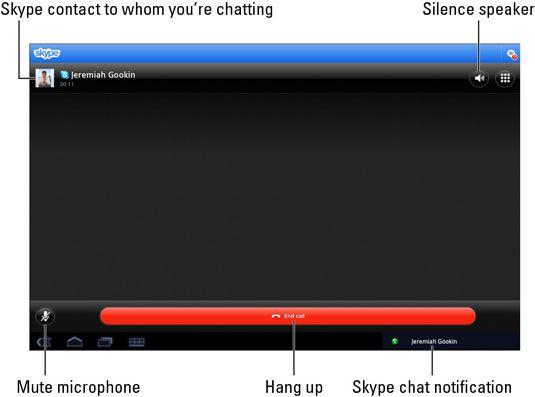 ���� - Como usar o Skype para conversar no Galaxy Tab