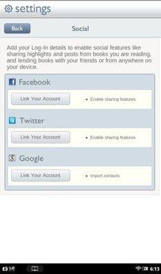 ���� - Como usar aplicativos de rede social em seu Tablet Nook