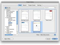 ���� - Como usar modelos no Word 2008 para Mac