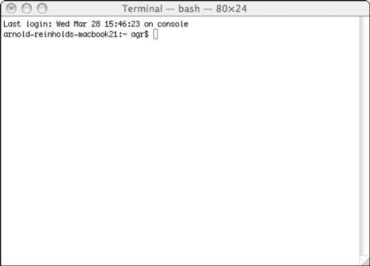 ���� - Como usar o Terminal para exibir UNIX em seu Mac