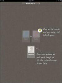 ���� - Como usar o Ancestry App em um iPad