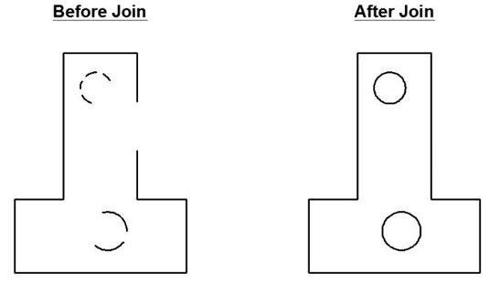 ���� - Como usar o Junte-de comando no AutoCAD 2014
