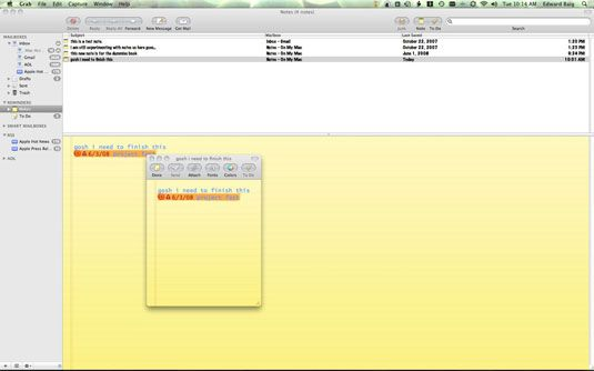 ���� - Como usar as Notas de Mac e To-Do Características