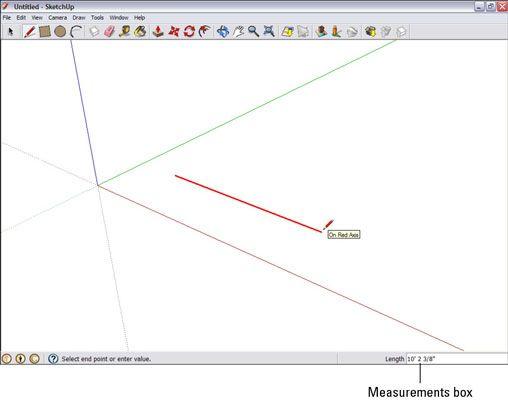 ���� - Como usar a caixa de Medidas no Google SketchUp 8