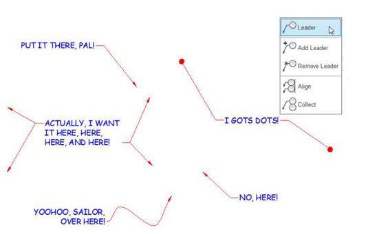 ���� - Como usar o comando MLEADER no AutoCAD 2014