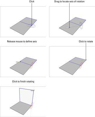 ���� - Como usar a Ferramenta de Rotação no Google SketchUp 8