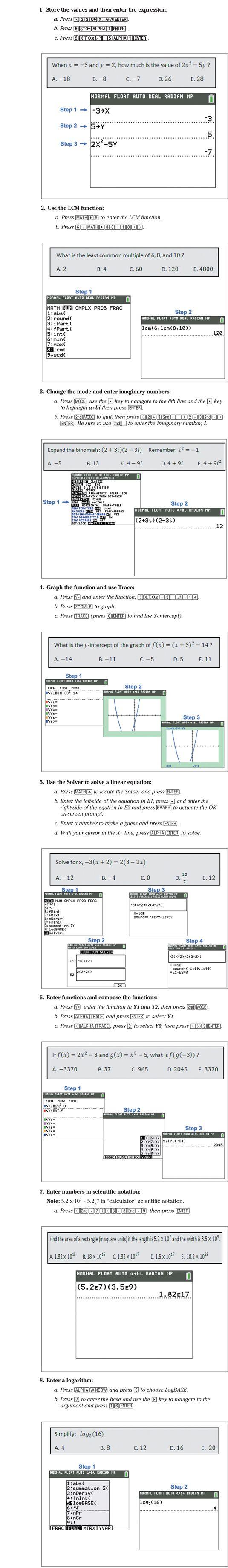���� - Como Usar a TI-84 Plus C para solucionar questões de testes padronizados