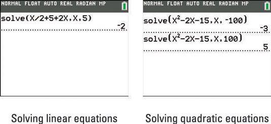 ���� - Como usar função de resolução da TI-84 Plus Calculator